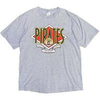Made in USA / 1992 MLB / Pittsburgh Pirates Border Tee / Grey Border / Used