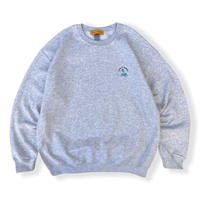 Color at Against Originals / Mister Embroidered Crew Sweat / Ash