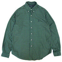 Polo Ralph Lauren / Cotton B.D. Checked Shirt / Green / Used