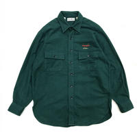 Made in USA / 80s L.L.Bean / Chamois Cloth Shirt /  Green  / Used