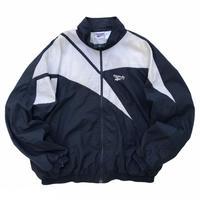 90s Reebok / Nylon Sport Jacket / Navy × White / Used