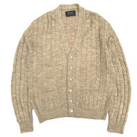 80's Jantzen / Cable Knit Cardigan / Beige / Used