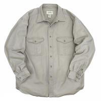 90's Eddie Bauer / 2Pocket  Cotton Shirt / Beige / Used