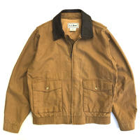 90s L.L.Bean / Leather Collar Work Jacket  / Brown / Used