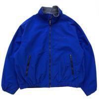 Made in USA / Eddie Bauer / Full Zip Nylon Polartec Fleece Jacket / Blue / Used