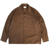60-70s Mcgregor / Vintage Open Collar Shirt / Brown / Used