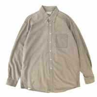 Made in USA / 90's L.L.Bean / L/S Solid Shirt / Beige / Used