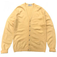 60-70s Warren Knit / Vintage Acrylic Cardigan / Yellow / Used