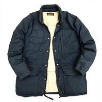 80s Eddie Bauer / Goose Down Jacket / Navy × Beige / Used