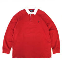Polo Ralph Lauren / Cotton Rugby Shirt / Red / Used