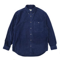 90's Eddie Bauer / L/S Check Shirt / Navy / Used