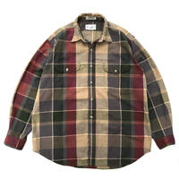 90s Eddie Bauer / 2Pocket Multi Checked Shirt /Multi / Used