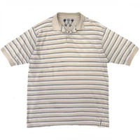 Haggar / Border Polo Shirt / BGE×NVY×WHT / Ued