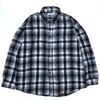 Made in USA / L.L.Bean / L/S B.D.Check Shirt / White × Black / Used