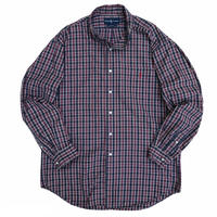 """90's Raph Lauren / TWO-PLY Cotton Multi Checked B.D Shirt """"BLAKE"""" / Used"""