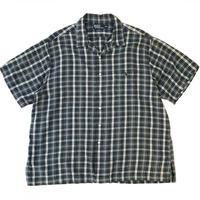 "Polo Ralph Lauren / Cotton Open Collar Check Shirt ""ADAMS"" / Green / Used"
