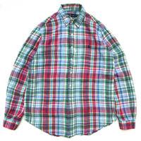Polo Ralph Lauren / Linen B.D. Check Shirt / Multi / Used