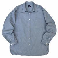 GAP / Cotton Checked Shirt / Lt.Blue Check / Used