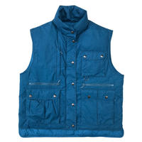 80-90's Eddie Bauer / Goose Down Vest  / Royal / Used