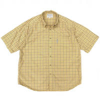 Columbia /  Outdoor Checked Shirt / Pale Yellow / Used