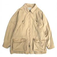 90s Eddie Bauer / Cotton Stain Collar Coat / Beige / Used