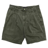 Cotton 2tuck Shorts / Khaki / Used
