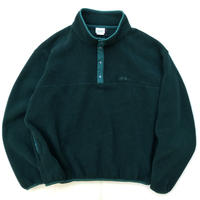 Made in USA / 90s L.L.Bean / Fleece Snap T / Olive / Used