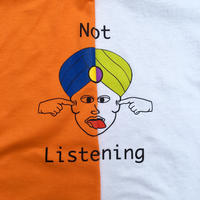 Bedlam /   Not Listening Tee / White , Orange