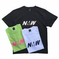 NERDY MOUNTAIN WORKS / NMW S/S TEE / White. Sumi . Lime