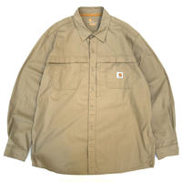 Carhartt / Rip Stop Cotton Work Shirt / Beige / Used