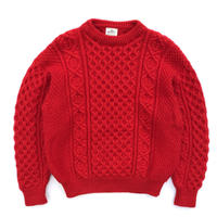 Made in Ireland / Bonner Ireland / Alan Knit Sweater / Red / Used