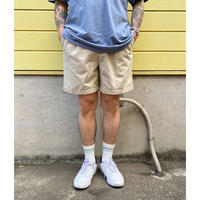 00s Eddie Bauer /  Cotton 2tuck Shorts  / Beige / Used
