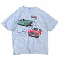 Made in USA / 90's Hanes / Route 66  Tee / Ash / Used