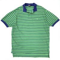 Polo Ralph Lauren / Border Polo Shirt / Navy × Green / Used