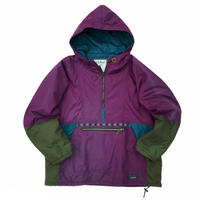 Made in USA / 80s L.L.Bean / Vintage 3M Thinsulate Nylon Anorak / Purple / Used