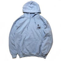 Color at Against Originals / Mister Printed Hoodie / Lt.Blue