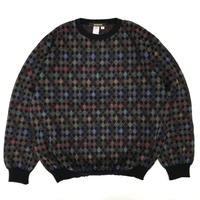 80's Pullover Multi Knit Sweater / Multi / Used