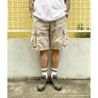 90's Polo Jeans / Cotton Ripstop Cargo Shorts  / Beige / Used(W34)