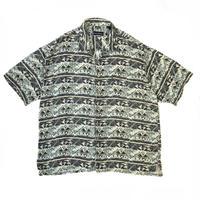 Field & Stream / Multi Pattern Silk Open Collar Shirt / Multi / Used