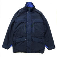 90s L.L.Bean / Wool Lined Nylon Jacket / Navy / Used