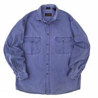 80's Eddie Bauer / Cotton Twill Shirt / Lt.Blue / Used