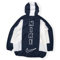 90's Nike /Reflector Logo Anorak / Navy × White XXL / Vintage
