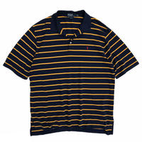 Polo by Ralph Lauren / Border Polo Shirt / Navy × Yellow / Used