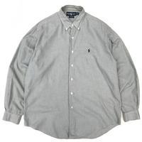 "Polo Ralph Lauren / 90s Cotton B.D. ""MARLOWE""Check Shirt / Khaki / Used"