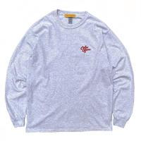 Color at Against ORIGINALS / C&C Embroidered L/S Tee / Ash