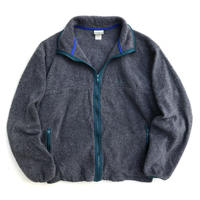 Made in USA / 80s L.L.Bean / Full Zip Fleece Jacket / Grey / Used