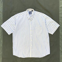 90s GAP / Cotton B.D Stripe Shirt / Blue Stripe / Used