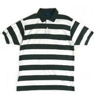 Deadstock / Town Craft /  S/S Border Polo Shirt / Forest  / Used