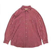 L.L.Bean / L/S B.D.Check Shirt /  Wine / Used