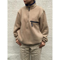 Made in USA / 90s L.L.Bean / Full Zip Fleece Jacket / Ivory/ Used